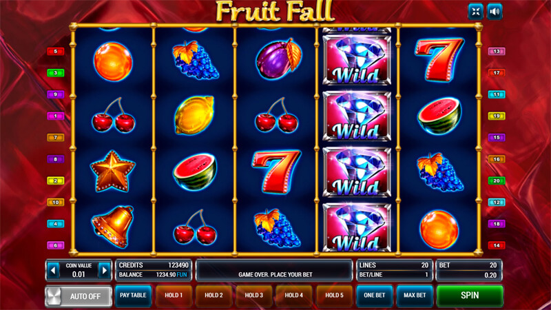 Изображение игрового автомата Fruit Fall 2