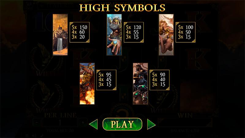 Изображение игрового автомата Demi Gods 2 3