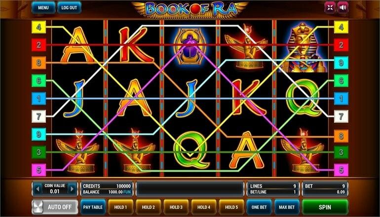 Изображение игрового автомата Book of Ra 1