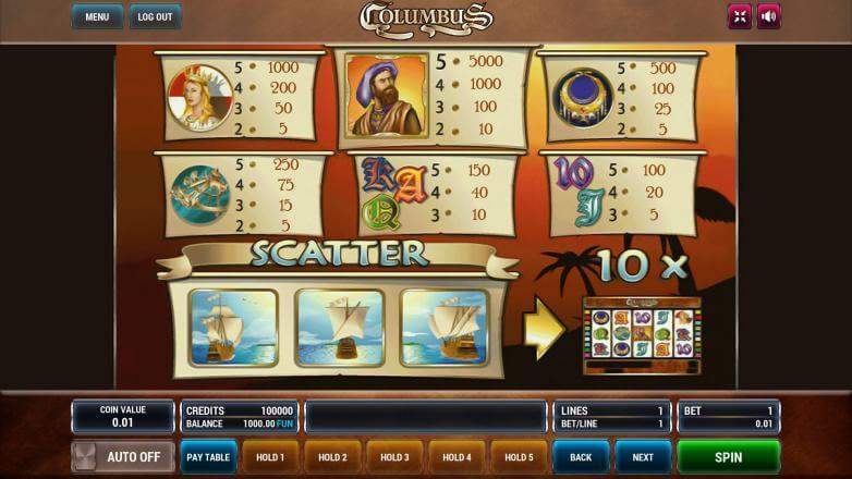 Изображение игрового автомата Columbus 3