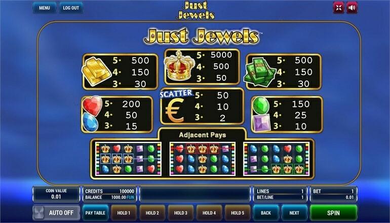 Изображение игрового автомата Just Jewels 3