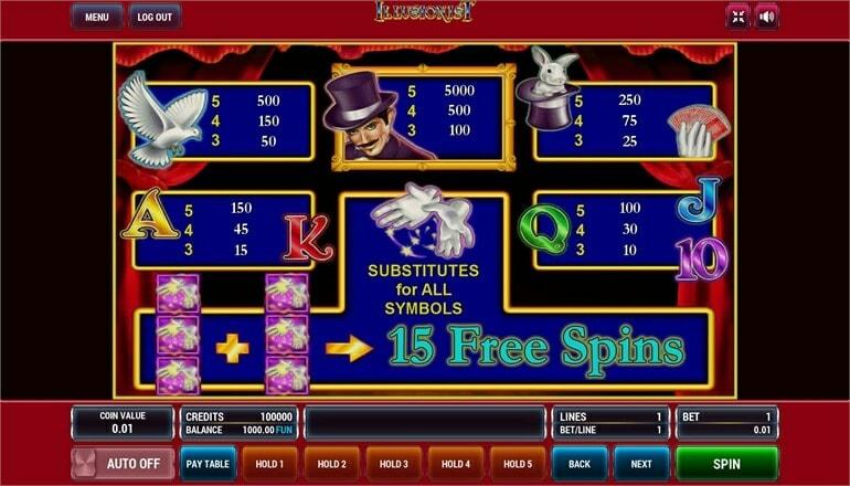 Изображение игрового автомата Illusionist 3